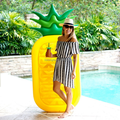 2018 pvc inflatable pineapple float toy swimming pool float inflatable fruit pool float raft in stock