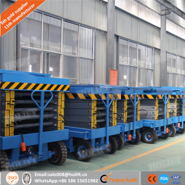 Holift Mobile Manual Hydraulic Scissor Lift Table Trolley