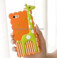 Fashion design cute shaped pvc silicone phone case for iphone