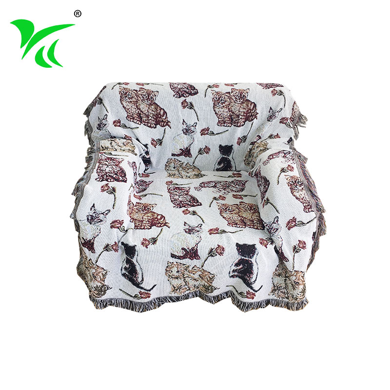 Professional polyester woven tapestry throw blankets wholesale