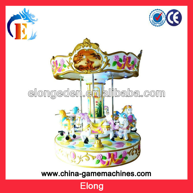3 seats kids roundabout mini carousel