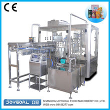 Automatic liquid pouch packing machines/liquid pouch pack machine/small spouted bottle pouch e-liquid filling and capping machin