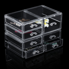 Deco Unique Acrylic Makeup Organizer Clear Box Cosmetic Cases