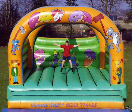 Big inflatable bouncer Simpson Mania