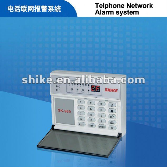 Built-in pstn alarm system 6 wireless and 2 wired