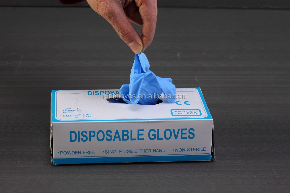disposable non-sterile nitrile gloves /dental gloves approved by CE ISO