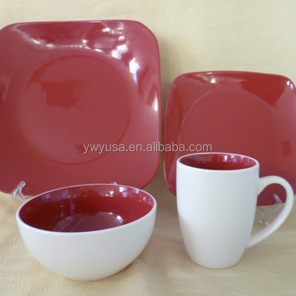 wholesale 12pcs glazed porcelain dinner set, ceramic dinner set china supplier
