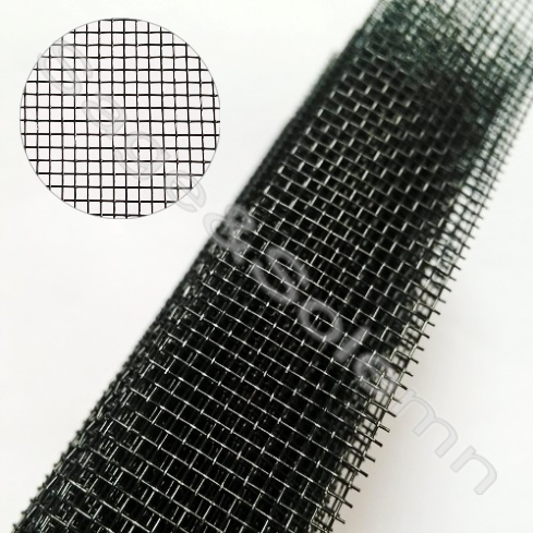 Good Quality Black Color PP Material Pleated Mosquito Screen Net