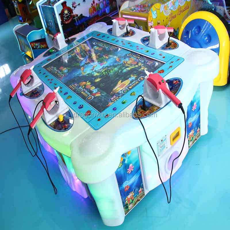 Adults/ Children 6 players simulator fishing video game table gambling game machine