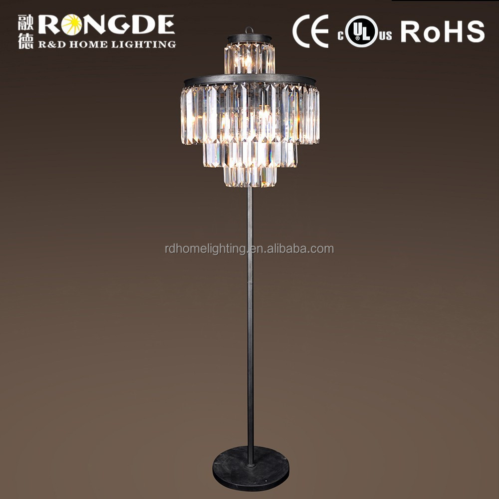 Chinese style classic crystal chandelier floor lamp