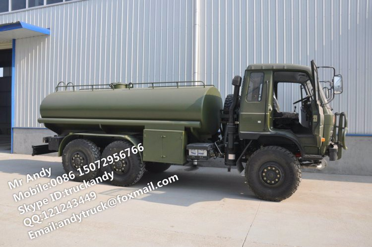 Dongfeng RHD all-wheel drive army water tanker truck