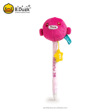 B.Duck polyester material advertising doll ball pen with animal head