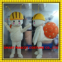 Lovely human size walking snail mascot costume with build-in cooling fan fit all adult snail mascot costume