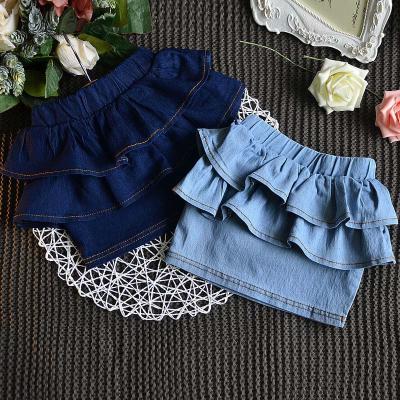 CB6034 new design children tight denim skirts