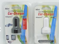 CE cell phone car charger 2 output port charger dual USB car charger