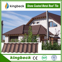 Lightweight Colorful Antique Stone Coated Zinc metal Roofing Tile Kerala Style Roof Tiles