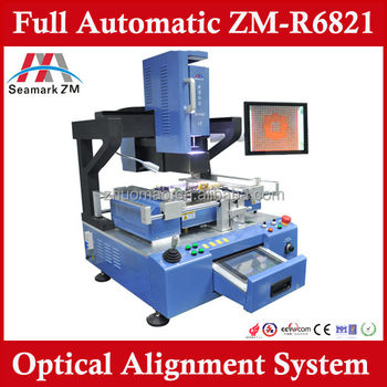 high definition automatic ZM-R6821 bga rework station welding machine with optical for laptop mobile ps3 motherboard repair