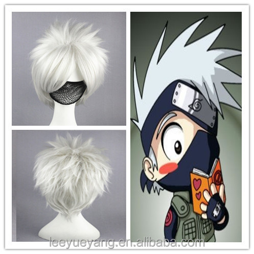 High quality white NARUTO Hatake Kakashi cosplay wig