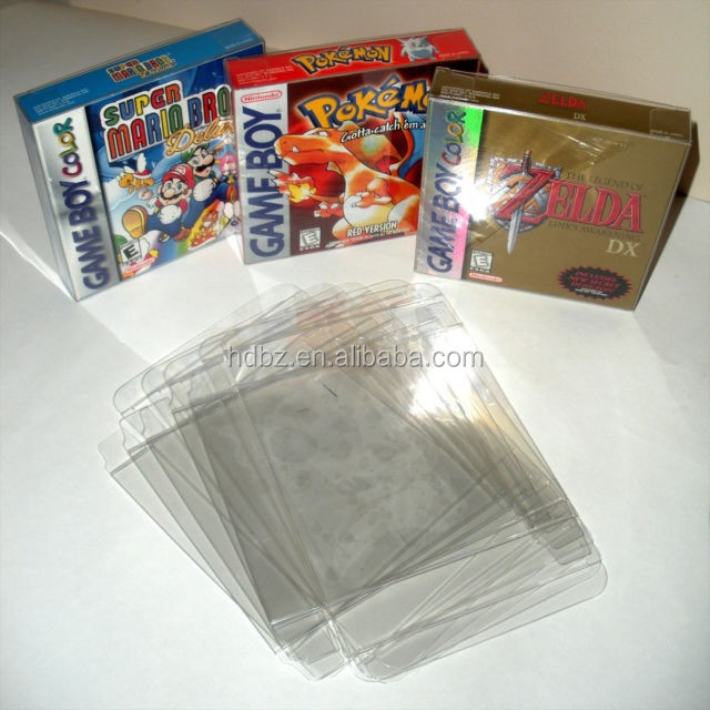 Customized Clear game Box Protectors for N64/SNES/NES games