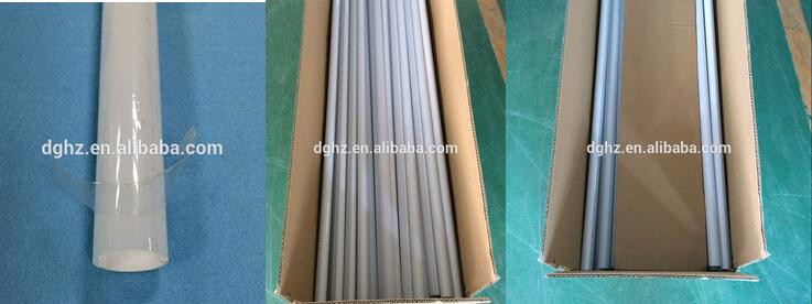 4 feet T8 full plastic tube housing light extrusions with Bi-color for led tube accessories