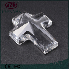 Treasure High Quality Wholesale Crystal cross shape Faceted surface beads