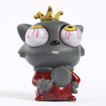 customied soft plastic vinyl toy for child/custom made big eyes cartoon wolf squeezable toy vinyl figurines