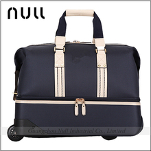 Special design nylon material sport man 17 inch rolling polo laptop bag