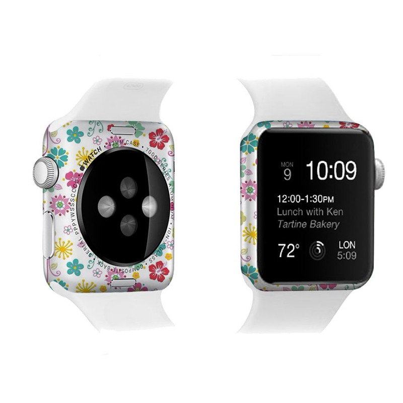 3D full cover tempered glass for apple watch colorful,2016 for apple watch screen protector beautiful cover