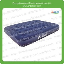 Guangdong flocked PVC comfortable surface queen size inflate airbed mattress