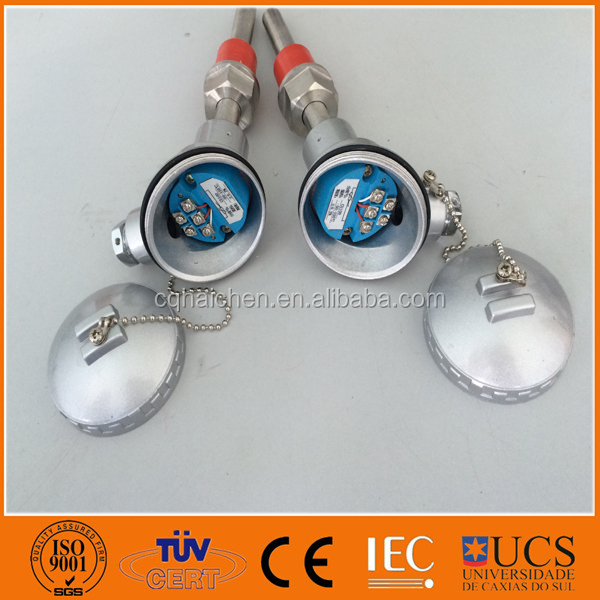 pt100 temperature sensor with transmitter 4 to 20mA