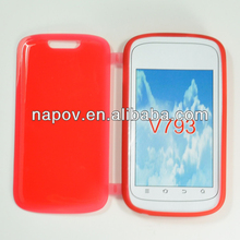 China Mobile Phone Cover Manufacturer Bright Couple Case for zte v793