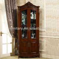 2013 new design wood antique corner cabinet