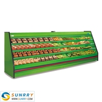 Commercial open display chiller for vegetable and fruit display in supermarket (SUNRRY SY-SVS2000S)
