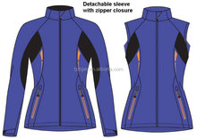 2015 new sports design removable sleeves Softshell jacket and vest