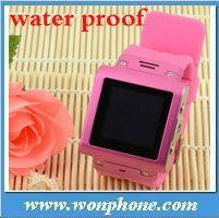 "Newest 1.5""touch screen Waterproof Quad band Watch Phone W838 with Bluetooth from China"