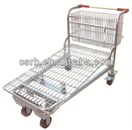 Portable Supermarket Shopping Warehouse Trolley With Brake