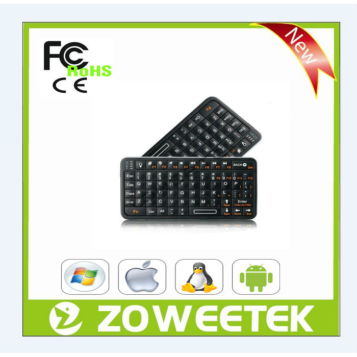 air mouse backlit wireless keyboard remote control for smart tv, android tv box