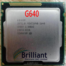 CPU Intel 2.8GHz 3M Dual core pentium G640 second hand Processor pulled used CPU