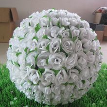 Fast shipping special design white flower Ball with leaf - Factory directly