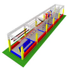 Ninja Warrior Foam Pit Outside Equipment Indoor Play Area Adult Kid Obstacle Course