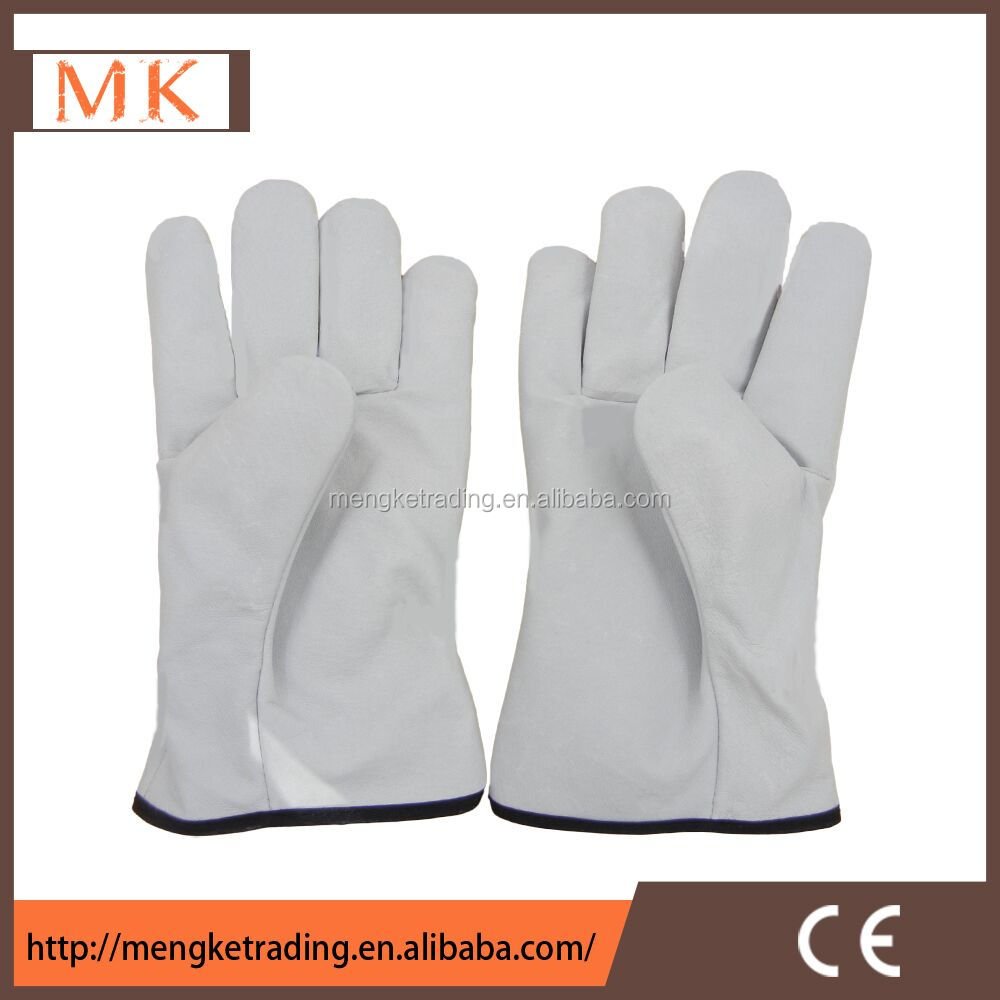cow grain leather driver gloves/ bus driving gloves