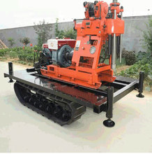 230m depth water well drilling rig, Trailer mounted truck/Track cheap mini water well drilling rig price