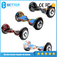 10inch UN38.3 certified electric scooter hoverboard two wheel self balancing with bluetooth speaker