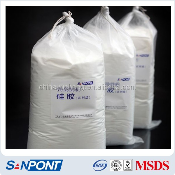 SANPONT Wholesale Research Chemicals Free Sample Macropore Silica 200-300mesh