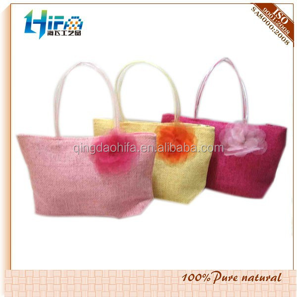 2015 Fashion enviromental and Cheap Colored Straw Bags
