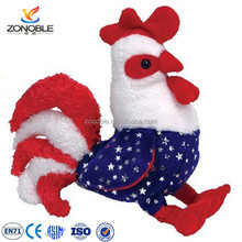 Colored plush squeaky toy chicken personalized cute rooster stuffed animal