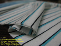 Cooling polyester / mercerized cotton fabric