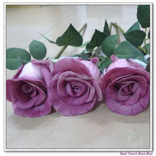 real touch PU Rose Single stem large rose artificial wholesale flowers