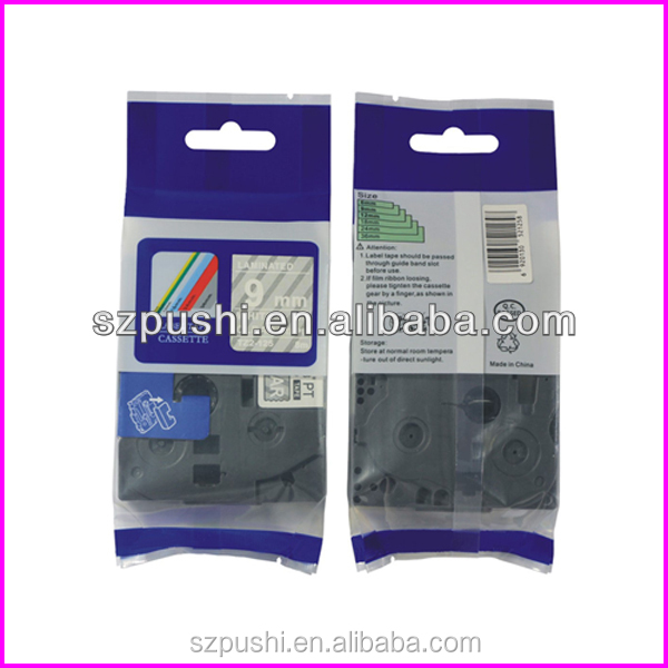 Compatible 12mm White on Clear Cassette Tze Tape TZe-125 for P-touch Label Typewriter