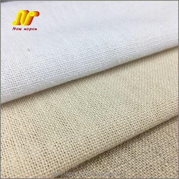Stone Washed 85% Polyester 15% Linen Upholstery Fabric